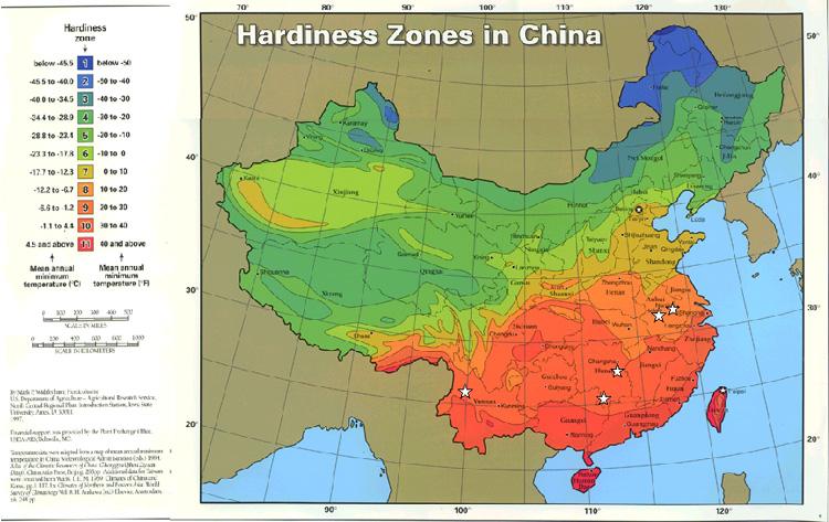 Chinahrdjpg - Map of us growing zones